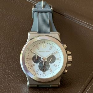 Michael Kors Dylan Chron Gray Silicone Strap